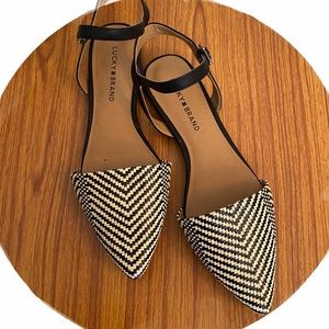 Lucky Brand Makaby Woven Pointed Toe Flat